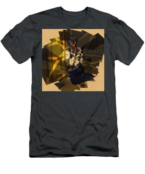 Pensive Woman Men's T-Shirt (Athletic Fit)
