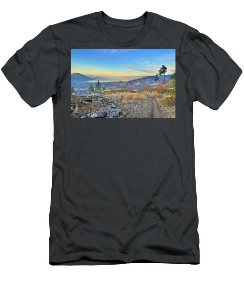 Men's T-Shirt (Slim Fit) featuring the photograph Penticton In The Distance by Tara Turner