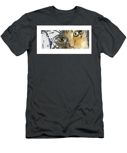 Pepper Eyes Men's T-Shirt (Slim Fit) by Deborah Nakano