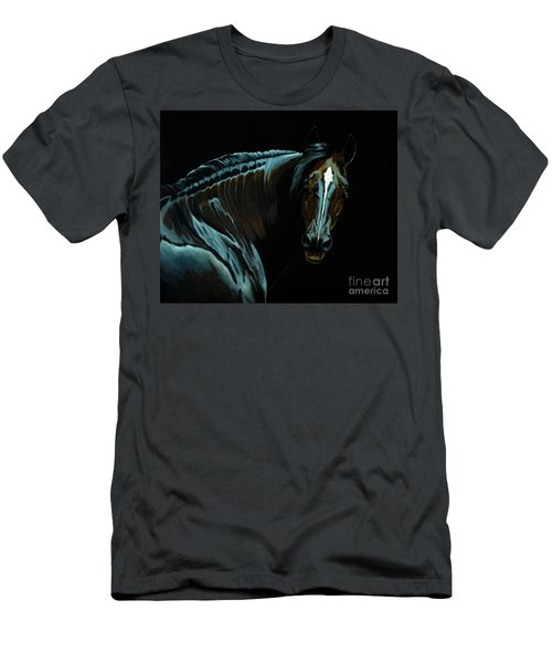 Percheron Mare In The Moonlight Men's T-Shirt (Athletic Fit)