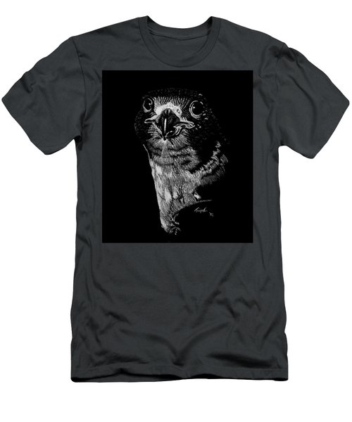 Peregrin Falcon Men's T-Shirt (Slim Fit) by Lawrence Tripoli