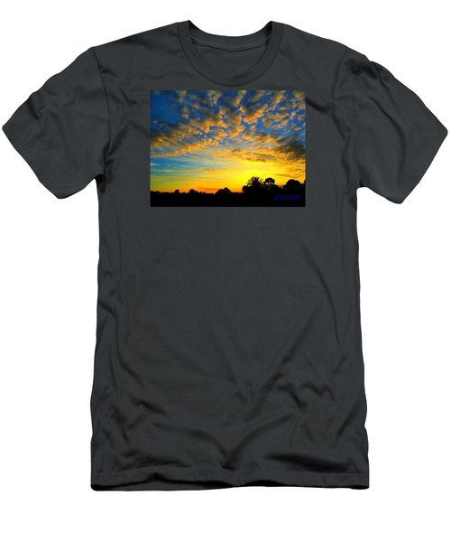 Men's T-Shirt (Slim Fit) featuring the digital art Perfect Sunset by Mark Blauhoefer