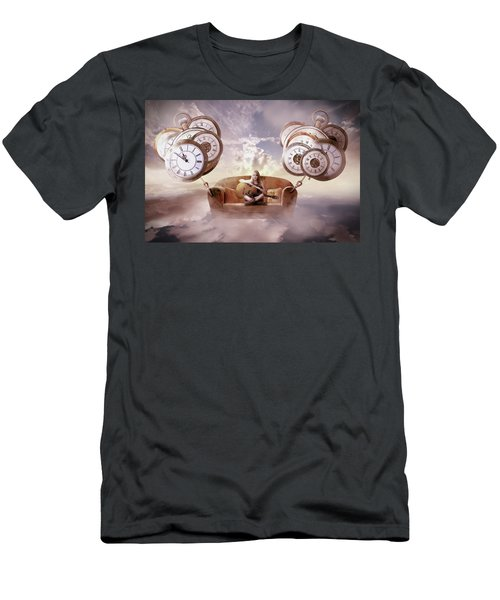 Men's T-Shirt (Slim Fit) featuring the digital art Perfect Timing  by Nathan Wright