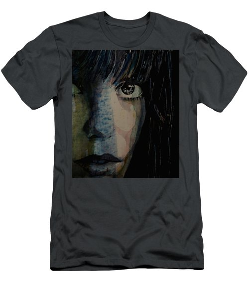 Men's T-Shirt (Slim Fit) featuring the painting Periode Bleue by Paul Lovering