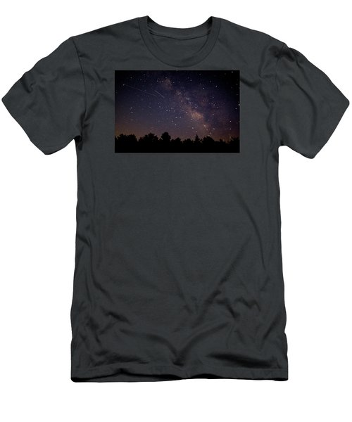 Men's T-Shirt (Slim Fit) featuring the photograph Perseid Meteor Shower by Jean Haynes