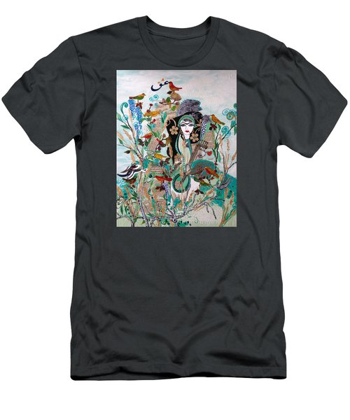 Persian Painting # 2 Men's T-Shirt (Slim Fit) by Sima Amid Wewetzer