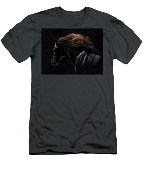 Men's T-Shirt (Slim Fit) featuring the painting Peruvian Paso Horse by David Stribbling