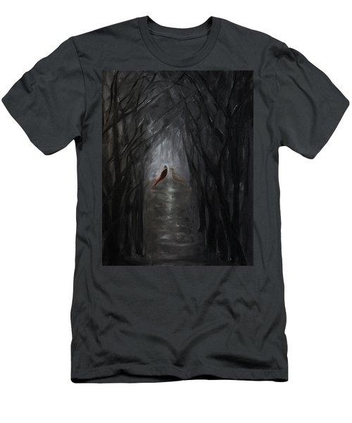 Pheasants In The Garden Men's T-Shirt (Slim Fit) by Tone Aanderaa