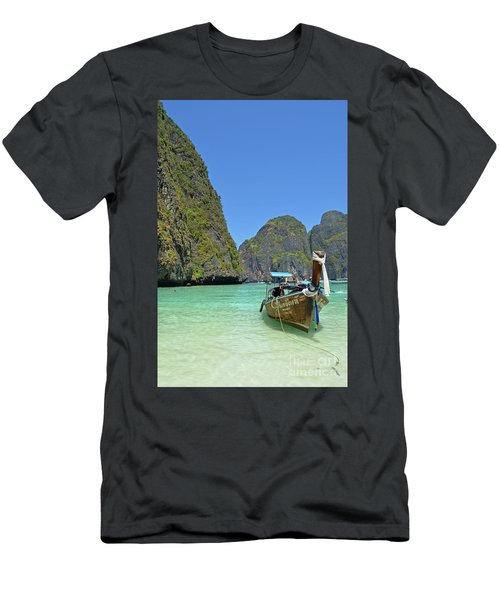 Men's T-Shirt (Slim Fit) featuring the digital art Phi Phi Islands 3 by Eva Kaufman