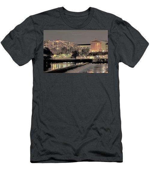 Philadelphia Art Museum In Pastel Men's T-Shirt (Athletic Fit)