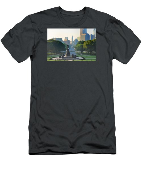 Philadelphia Benjamin Franklin Parkway Men's T-Shirt (Athletic Fit)