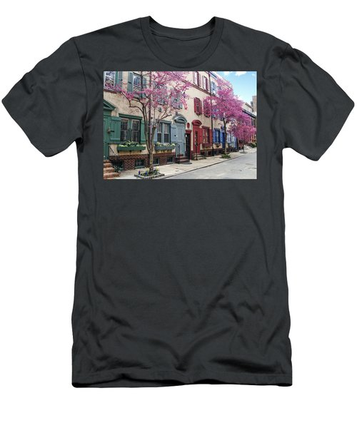Men's T-Shirt (Athletic Fit) featuring the photograph Philadelphia Blossoming In The Spring by Bill Cannon