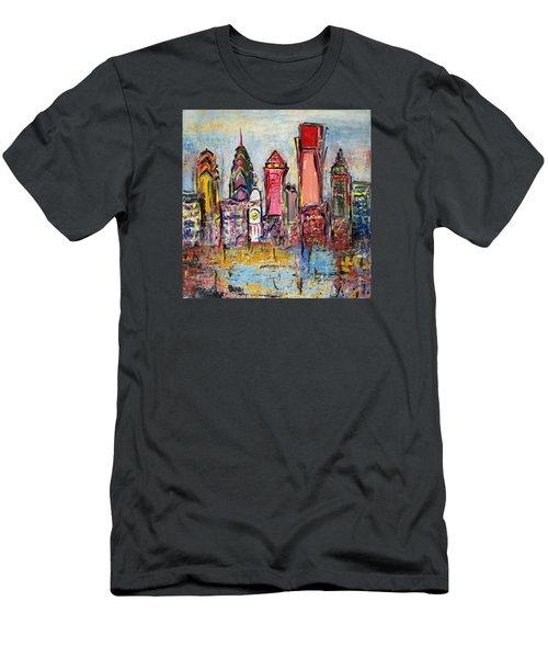 Philadelphia Skyline 232 1 Men's T-Shirt (Athletic Fit)