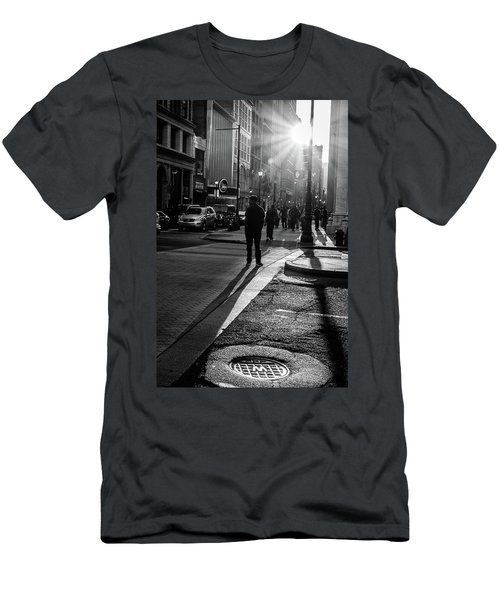 Philadelphia Street Photography - 0943 Men's T-Shirt (Slim Fit) by David Sutton