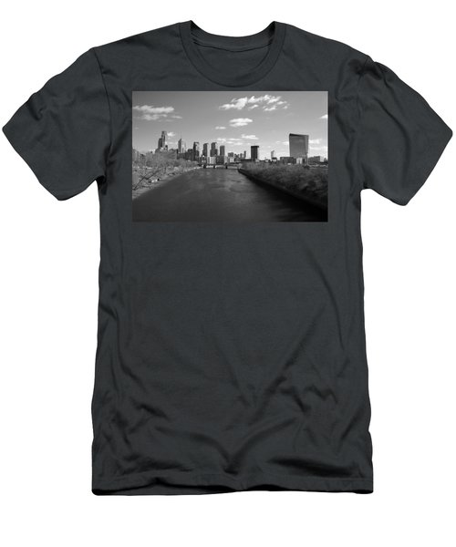 Philly B/w Men's T-Shirt (Athletic Fit)