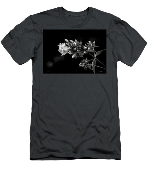 Phlox In Black And White Men's T-Shirt (Athletic Fit)