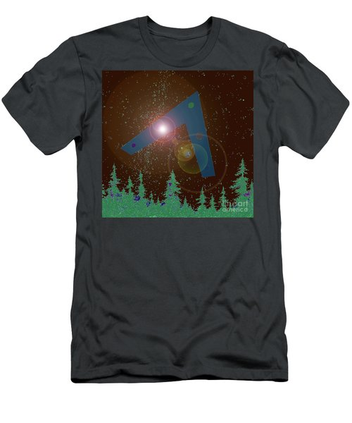 Men's T-Shirt (Slim Fit) featuring the painting Phoenix Lights Ufo by James Williamson