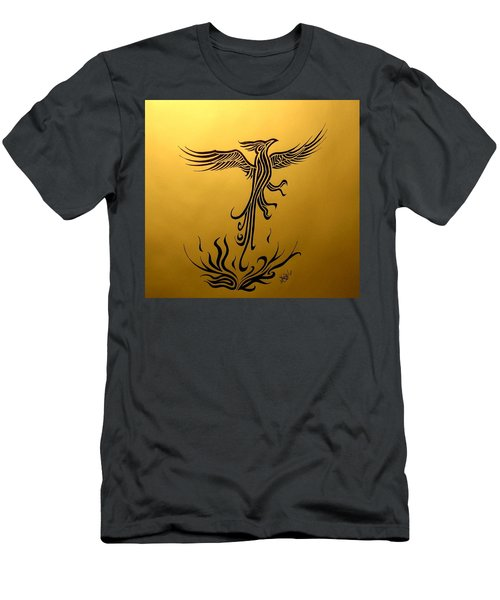 Men's T-Shirt (Athletic Fit) featuring the drawing Phoenix by Michelle Dallocchio