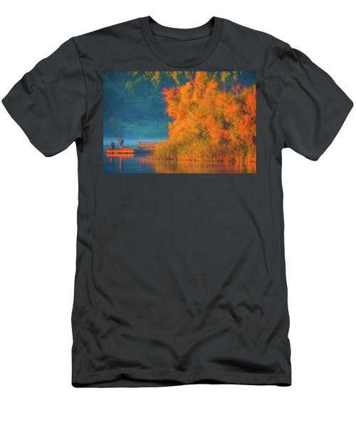 Men's T-Shirt (Slim Fit) featuring the photograph Photographing The Sunrise by Marc Crumpler