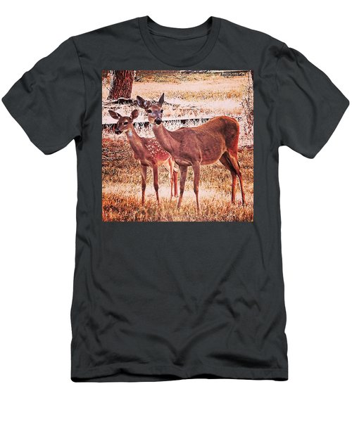 Photoshopping My Two Favorite #deer Men's T-Shirt (Athletic Fit)