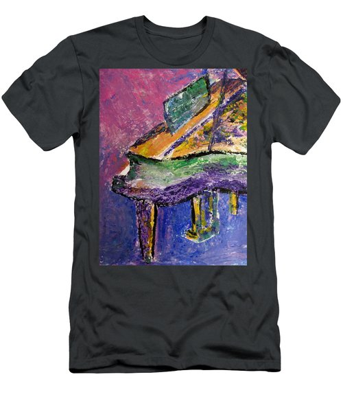 Piano Purple - Cropped Men's T-Shirt (Athletic Fit)
