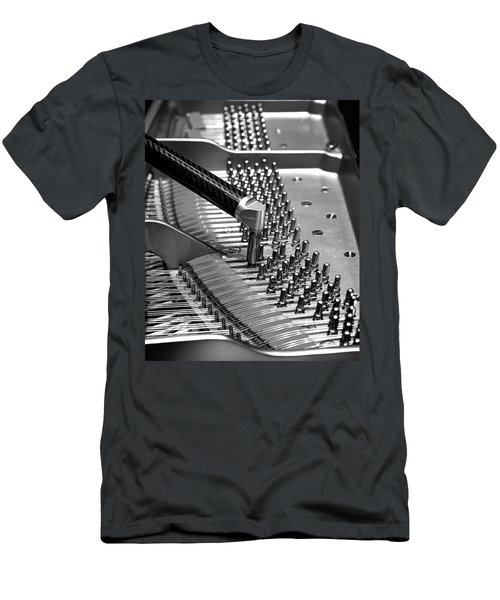 Piano Tuning Bw Men's T-Shirt (Athletic Fit)