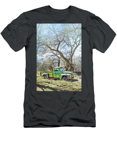 Pickup Under A Tree Men's T-Shirt (Slim Fit) by Robert FERD Frank