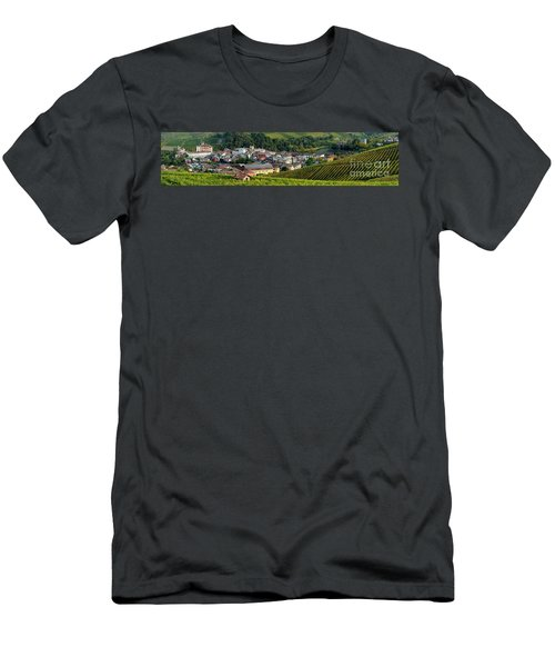 Men's T-Shirt (Slim Fit) featuring the photograph Piemonte Panoramic by Brian Jannsen