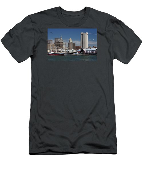 Men's T-Shirt (Athletic Fit) featuring the photograph Pier 17 Nyc by Ken Barrett