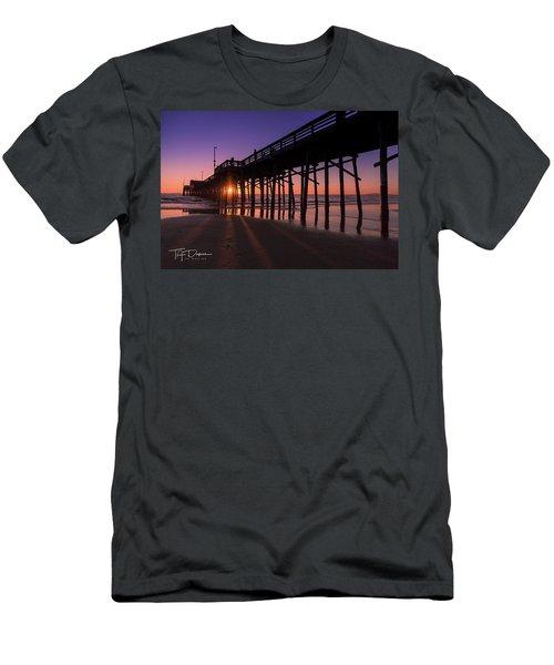 Pier In Purple Men's T-Shirt (Athletic Fit)