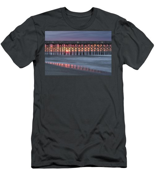 Pier With Sunrise Men's T-Shirt (Athletic Fit)