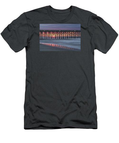 Pier With Sunrise Men's T-Shirt (Athletic Fit)