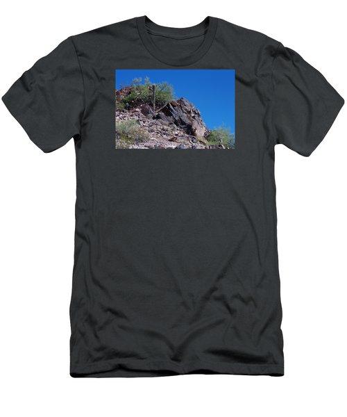 Men's T-Shirt (Slim Fit) featuring the photograph Piestewa Peak by Greg Graham