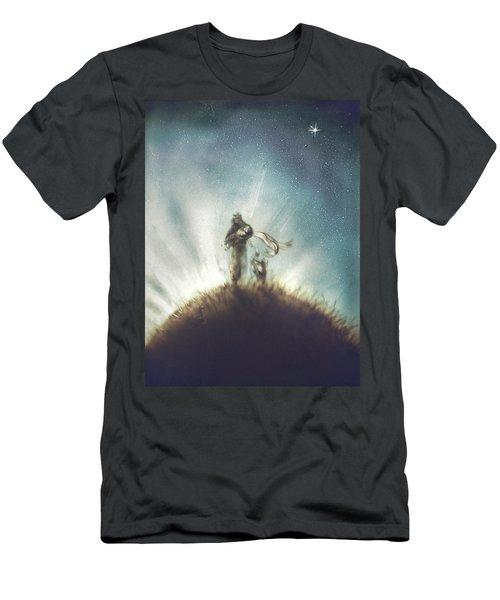 Pilot, Little Prince And Fox Men's T-Shirt (Athletic Fit)