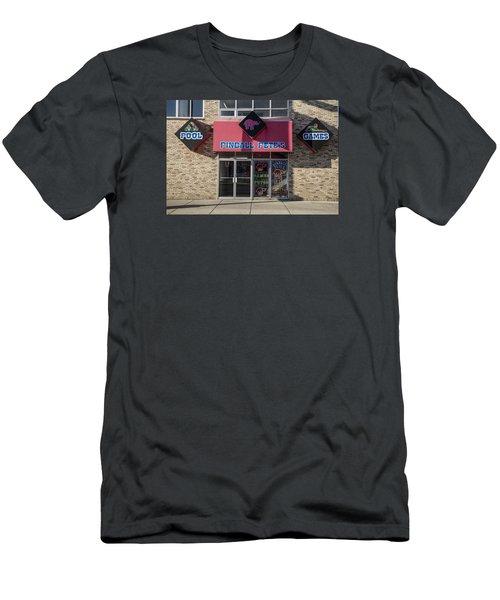 Pinball Pete's East Lansing  Men's T-Shirt (Slim Fit) by John McGraw