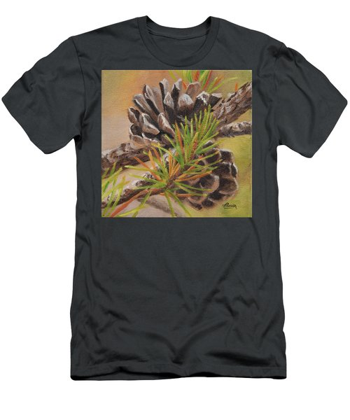 Men's T-Shirt (Athletic Fit) featuring the painting Pine Cones by Tammy Taylor