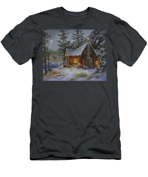 Pine Cove Cabin Men's T-Shirt (Athletic Fit)