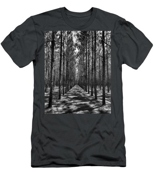 Men's T-Shirt (Athletic Fit) featuring the photograph Pine Plantation 5655_6_7 by Gulf Coast Aerials -