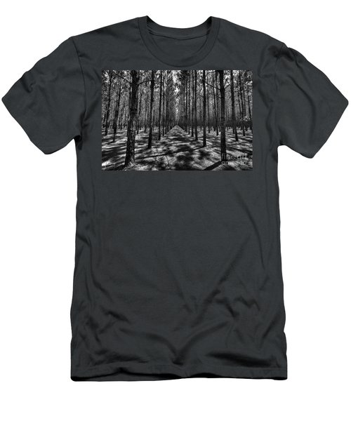 Men's T-Shirt (Athletic Fit) featuring the photograph Pine Plantation Wide by Tommy Patterson