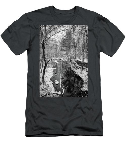 Pine Reflection On The Sheepscot Men's T-Shirt (Slim Fit)