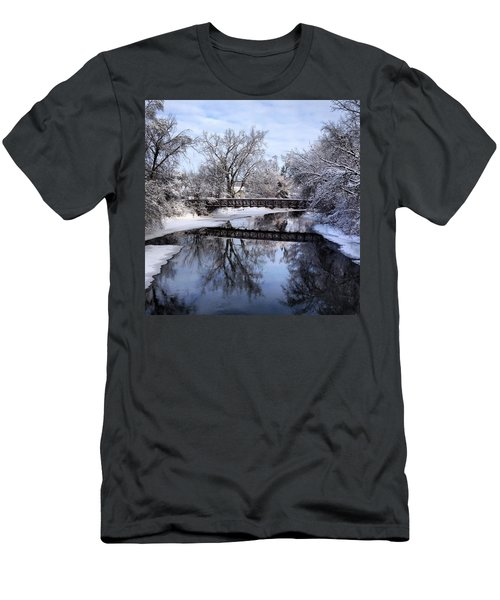 Pine River Foot Bridge From Superior In Winter Men's T-Shirt (Athletic Fit)