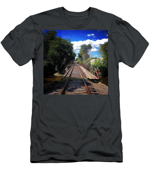 Pine River Railroad Bridge Men's T-Shirt (Athletic Fit)