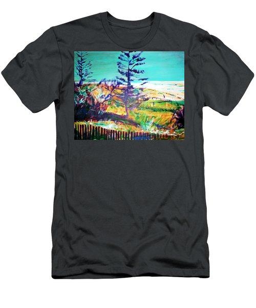 Pine Tree Pandanus Men's T-Shirt (Slim Fit) by Winsome Gunning