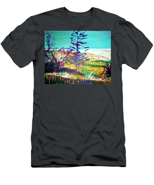 Pine Tree Pandanus Men's T-Shirt (Athletic Fit)