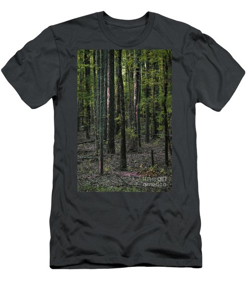 Men's T-Shirt (Slim Fit) featuring the photograph Pine Wood Sunrise by Skip Willits