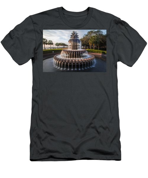 Pineapple Fountain Charleston Sunrise Men's T-Shirt (Athletic Fit)