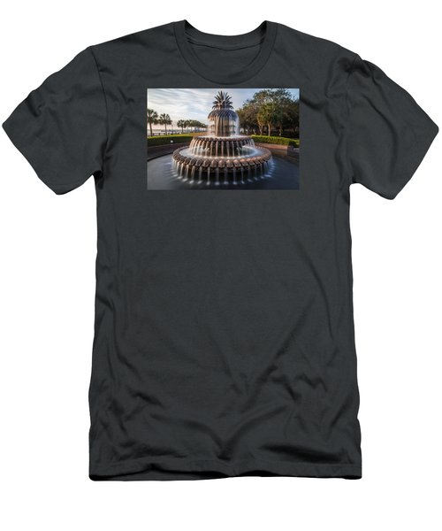 Pineapple Fountain Charleston Sunrise Men's T-Shirt (Athletic Fit)