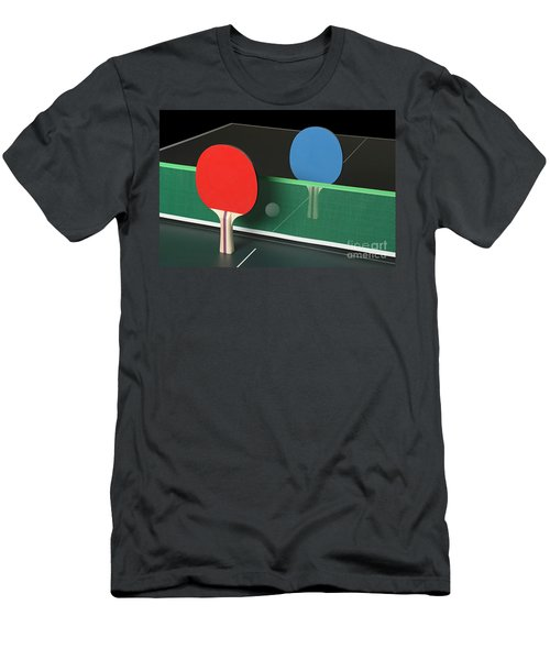 Ping Pong Paddles On Table, Standing Upright Men's T-Shirt (Athletic Fit)
