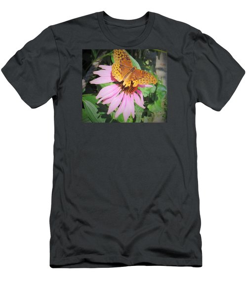 Men's T-Shirt (Slim Fit) featuring the photograph Pink And Yellow by Jeanette Oberholtzer