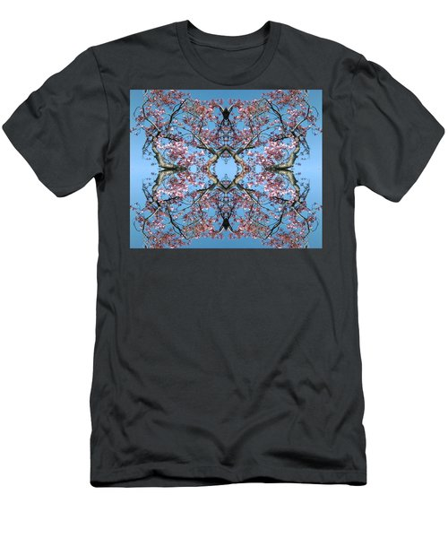 Pink Blossom Mandala Men's T-Shirt (Athletic Fit)